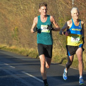 Michael Dunne in action at the Wilmslow 10k
